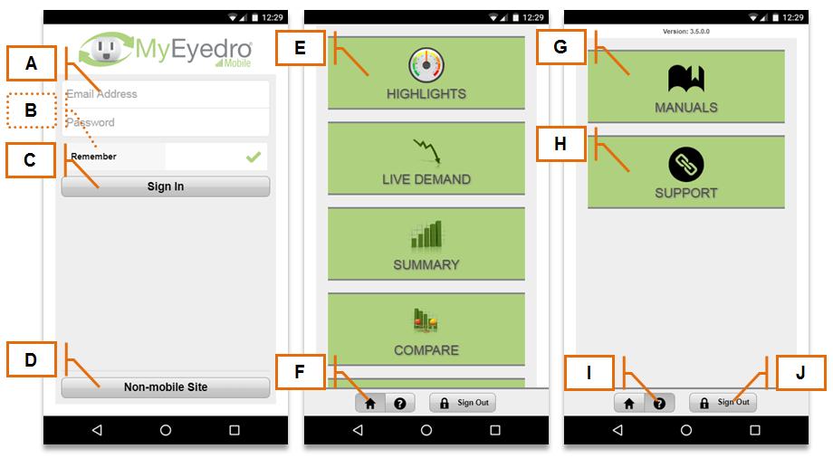 Screenshot of MyEyedro Client - Mobile