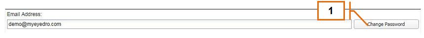 Screenshot of MyEyedro Client - Change Password