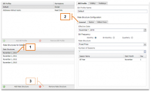 Screenshot of MyEyedro Client - Editing a Rate Structure