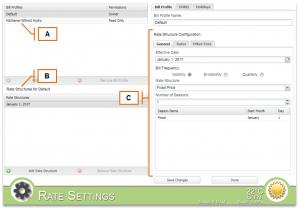 Screenshot of MyEyedro Client - Bill Profiles