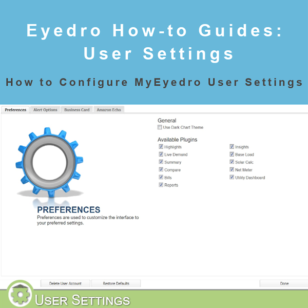 How to configure user settings in MyEyedro