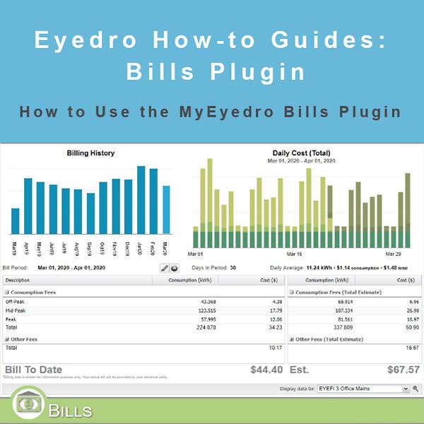 How to Use the MyEyedro Bills Plugin