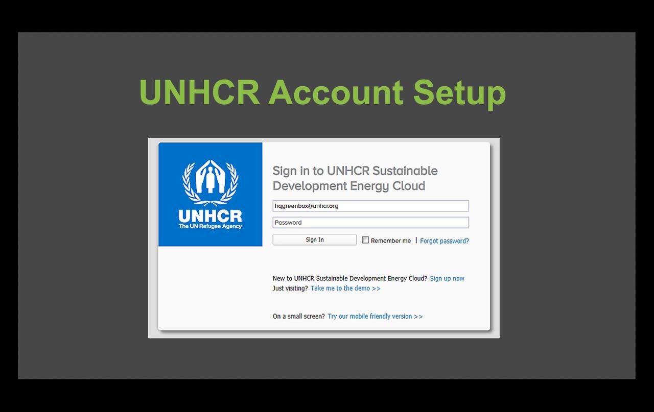 UNHCR dashboard