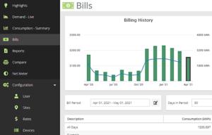 MyEyedro Billing History